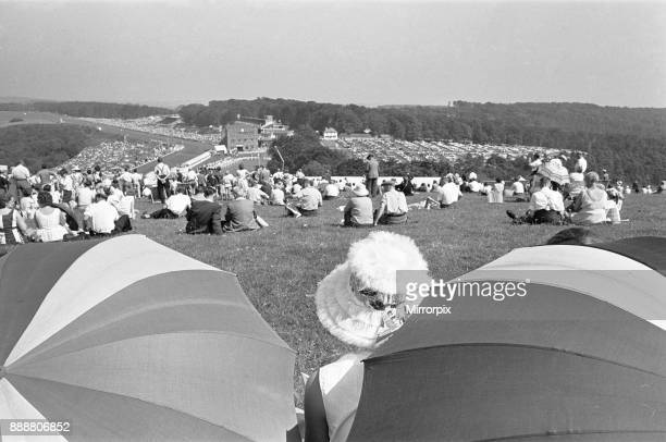 Glorious Goodwood 1963 Racegoers on The Trundle the Iron Age hill fort which is used as an informal grandstand Seek shelter from the sun and heat...