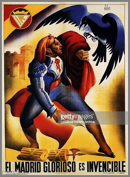 Glorious Madrid is invincible Republican poster from the Spanish Civil War 1936