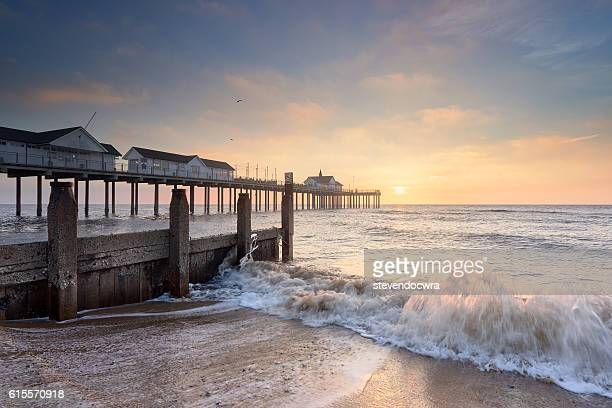 Glorious morning on the East Coast at Southwold Pier / Suffolk