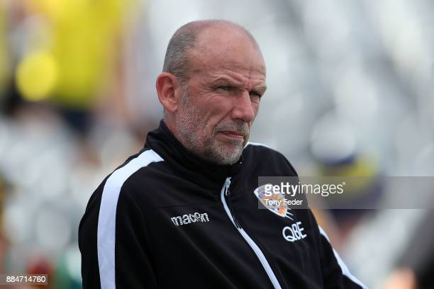 Glory coach Kenny Lowe during the round nine ALeague match between the Central Coast Mariners and Perth Glory at Central Coast Stadium on December 3...