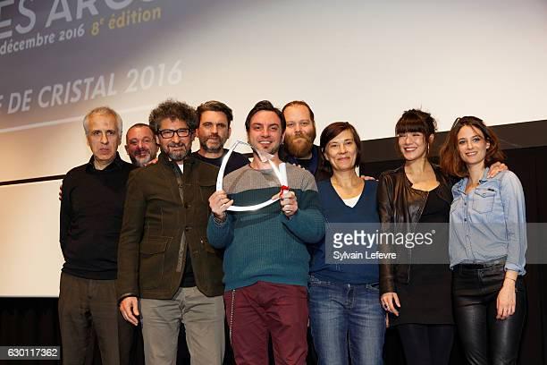'Glory' film coscript as film directors Kristina Groseva and Petar Valchanov representative receives the Fleche de Cristal during 'Les Arcs European...