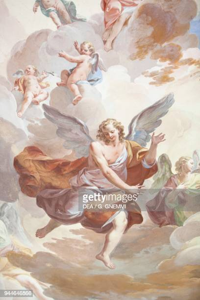 Glory of angels frescoed vault by Federico Ferrari 14th Chapel The encounter between Saint Francis and Malek alKamil the sultan of Egypt Sacred...