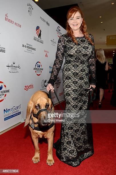Glory Search Rescue Dog Category Winner and Landa Coldiron attend the American Humane Association's 5th Annual Hero Dog Awards 2015 at The Beverly...