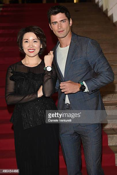 Glory Zhang and Sean O'Pry attend Vogue China 10th Anniversary at Palazzo Reale on September 28 2015 in Milan Italy
