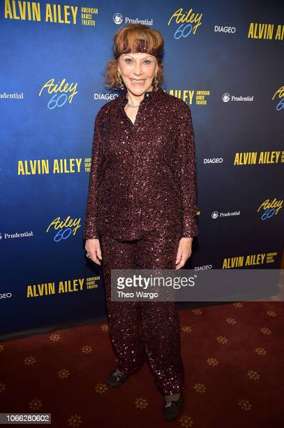 Glorya Kaufman attends the Alvin Ailey American Dance Theater's 60th Anniversary Opening Night Gala Benefit at New York City Center on November 28...