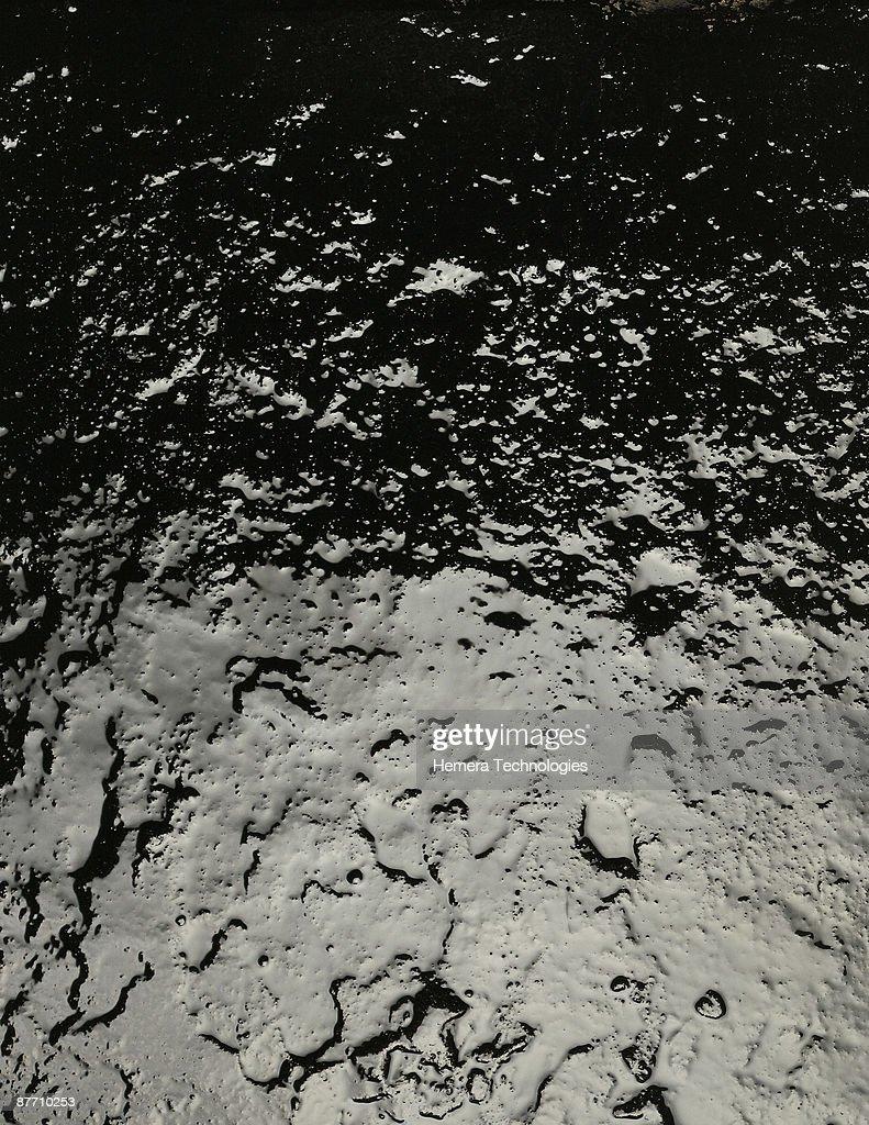 Glossy black background : Stock Photo