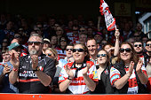 gloucester england gloucester fans clap players