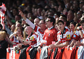 gloucester england gloucester fans sing during