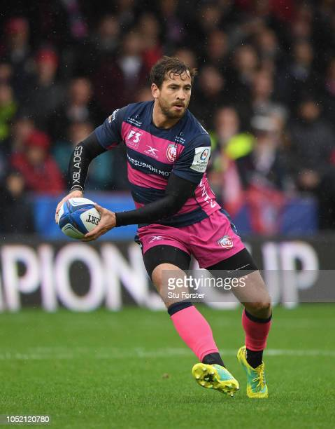 Gloucester player Danny Cipriani in action during the Champions Cup match between Gloucester Rugby and Castres Olympique at Kingsholm Stadium on...