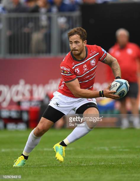 Gloucester player Danny Cipriani in action during the Gallagher Premiership Rugby match between Bath Rugby and Gloucester Rugby at Recreation Ground...