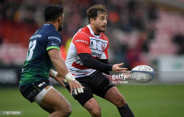 Gloucester player Danny Cipriani in action during the Heineken Champions Cup Round 3 match between Gloucester Rugby and Connacht Rugby at Kingsholm...