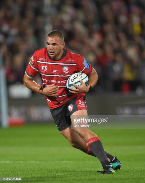 Gloucester player Franco Marais in action during the Gallagher Premiership Rugby match between Gloucester Rugby and Bristol Bears at Kingsholm...
