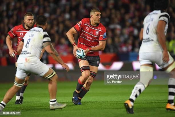 Gloucester player Gerbrandt Grobler in action during the Gallagher Premiership Rugby match between Gloucester Rugby and Bristol Bears at Kingsholm...