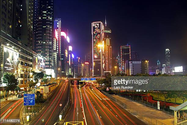 Gloucester Road in Hong Kong, China
