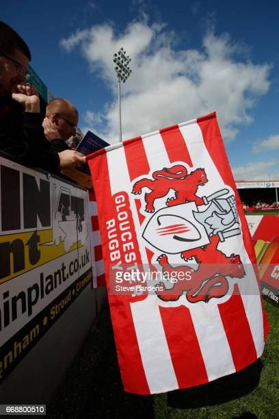 Gloucester Rugby supporters flag prior to the Aviva Premiership match between Gloucester Rugby and Sale Sharks at Kingsholm Stadium on April 15 2017...