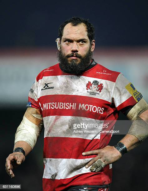 Gloucester Rugby's John Afoa during the Aviva Premiership match between Gloucester Rugby and Worcester Warriors at Kingsholm Stadium on January 7...