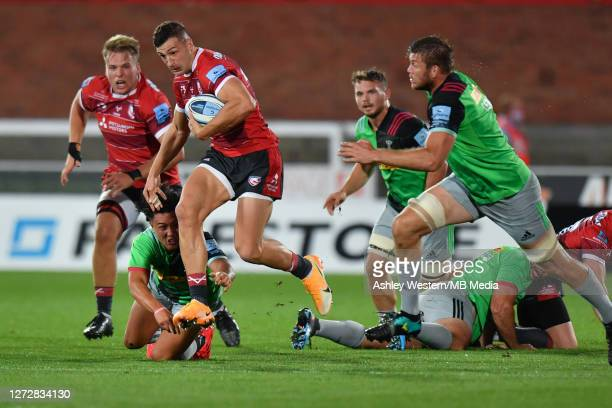 Gloucester Rugby's Jonny May is tackled by Harlequins' Marcus Smith during the Gallagher Premiership Rugby match between Gloucester Rugby and...