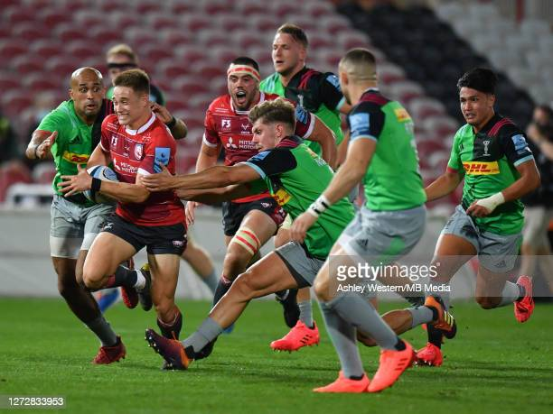 Gloucester Rugby's Stephen Varney in action during the Gallagher Premiership Rugby match between Gloucester Rugby and Harlequins at Kingsholm Stadium...