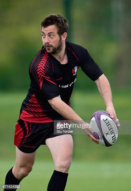 Gloucester scrum half Greig Laidlaw in action during Gloucester Rugby open training ahead of their European Challenge Cup final against Edinburgh on...