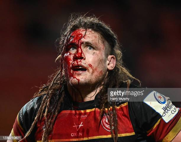 Gloucester , United Kingdom - 19 December 2020; Jordy Reid of Gloucester during the Heineken Champions Cup Pool B Round 2 match between Gloucester...