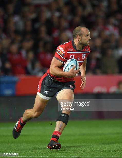 Gloucester wing Charlie Sharples in action during the Gallagher Premiership Rugby match between Gloucester Rugby and Bristol Bears at Kingsholm...