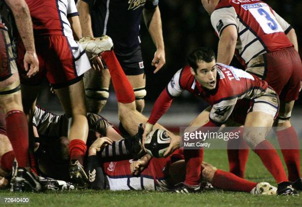 Gloucester's Haydn Thomas is seen during the Guinness Premiership match between Bristol Rugby and Gloucester Rugby at The Memorial Ground on November...