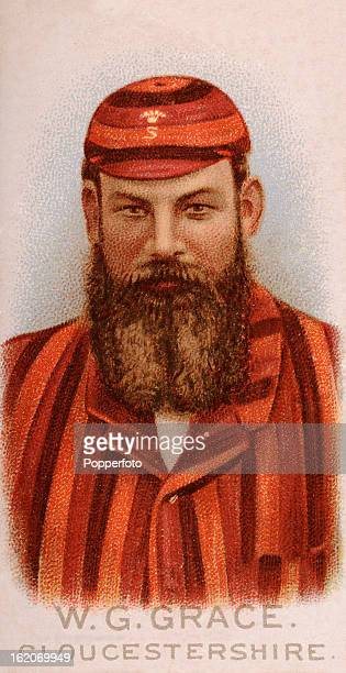 Gloucestershire and England cricketer Dr WG Grace , featured on a vintage cigarette card published in 1896.