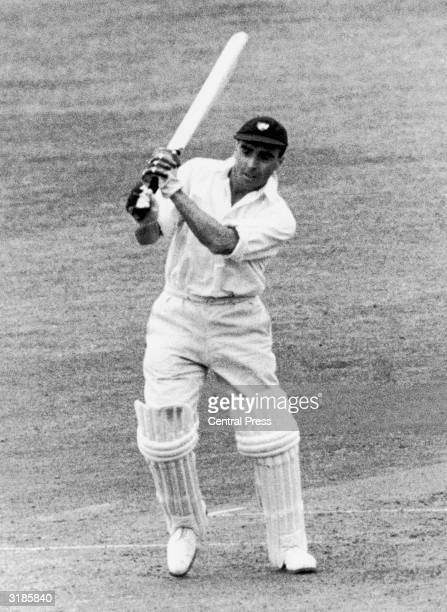 Gloucestershire batsman JF Crapp in action against Surrey at the Oval London 1949
