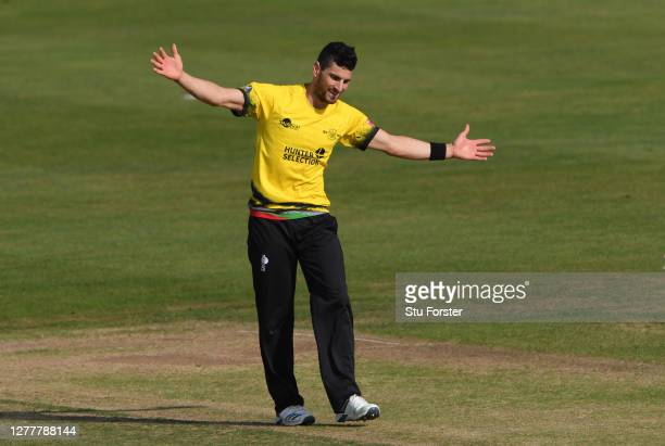 Gloucestershire bowler Benny Howell celebrates after dismissing Northants batsman Rob Keogh during the T20 Vitality Blast Quarter Final match between...