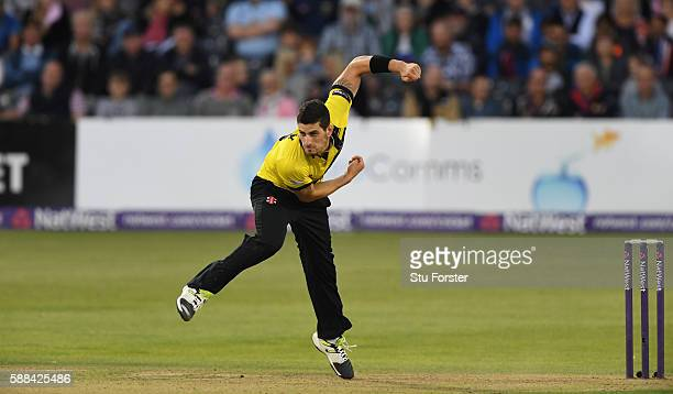 Gloucestershire bowler Benny Howell in action during the NatWest T20 Blast quarterfinal match between Gloucestershire and Durham Jets at Bristol...