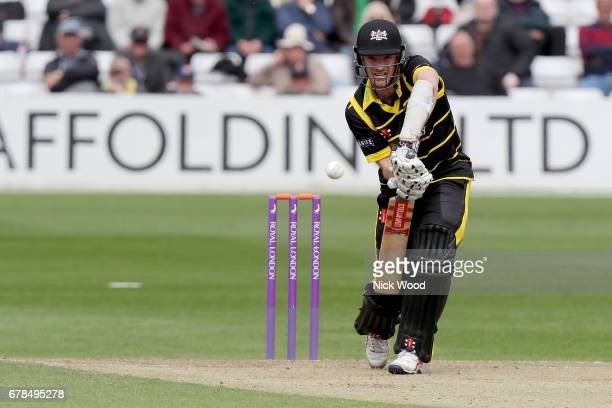 Gloucestershire captain Michael Klinger plays a forward defensive stroke during the Royal London OneDay Cup between Essex Eagles and Gloucestershire...