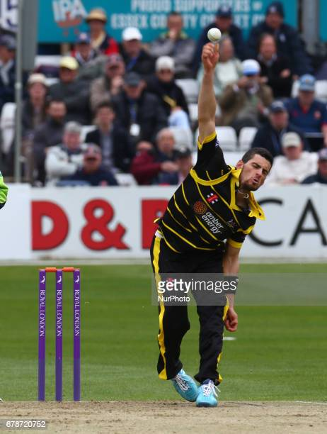 Gloucestershire's Benny Howell during Royal London OneDay Cup match between Essex CCC and Gloucestershire CCC at The Cloudfm County Ground Chelmsford...