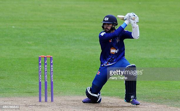 Gloucestershire's Jack Taylor hits out during the Royal London OneDay Cup Quarter Final between Gloucestershire and Hampshire at The County Ground on...
