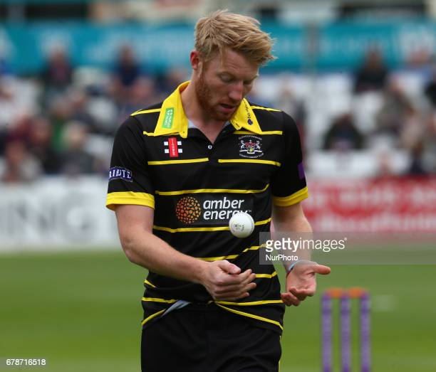 Gloucestershire's Liam Norwell during Royal London OneDay Cup match between Essex CCC and Gloucestershire CCC at The Cloudfm County Ground Chelmsford...