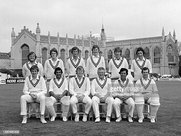 Gloucetershire County Cricket team prior to their County Championship match against Surrey at Cheltenham 23rd July 1977 The match ended in a draw...