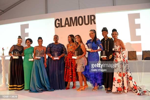 Gloumur Winners Farah FortunerKefilwe MaboteThabile NgwatoDr Sindi Van ZylGlamour Editor Asanda SizaniCandice LawranceConnie FergusonThokozani Ndaba...