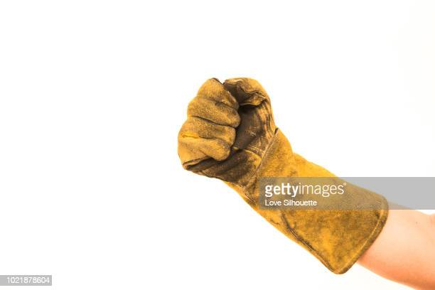 glove  isolated on white background - leather glove stock pictures, royalty-free photos & images