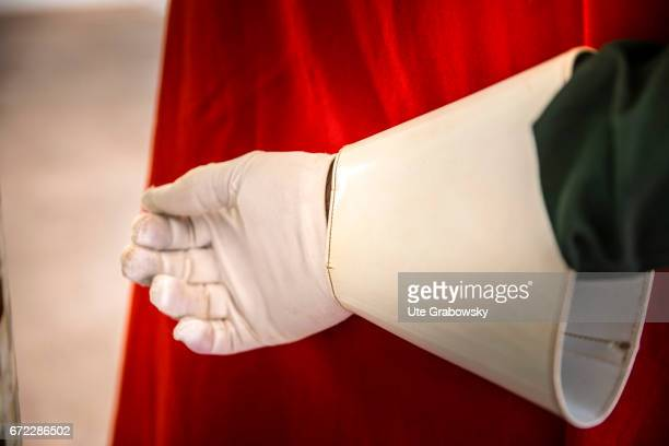 Glove of a uniform of the guards of the President on February 27 2017 in Ouagadougou Burkina Faso