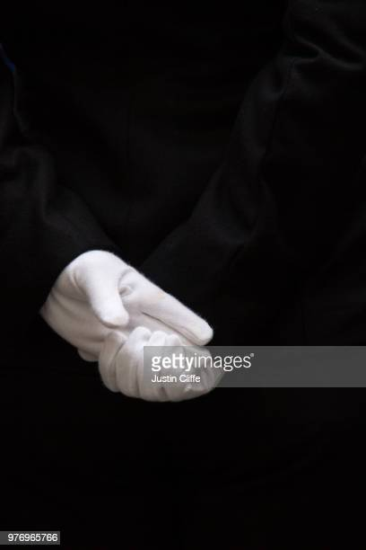 gloved hands - london policeman - justin cliffe stock pictures, royalty-free photos & images