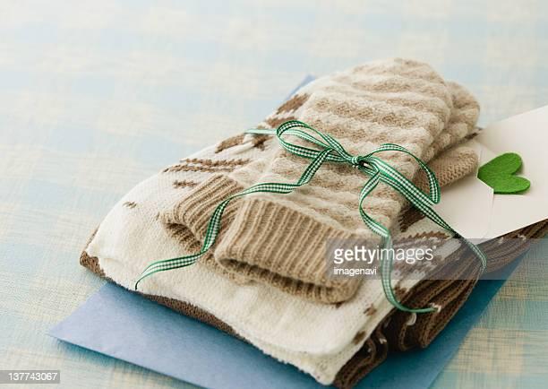 Gloves and muffler