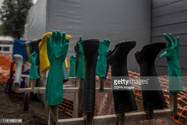 Gloves and wellies at an Ebola treatment centre in Goma DR Congo is currently experiencing the second worst Ebola outbreak in recorded history More...