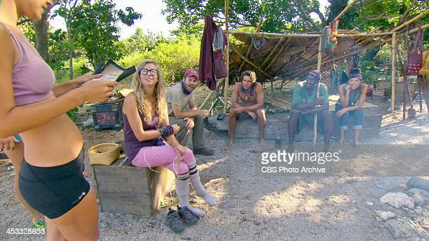 Gloves Come Off Ciera Eastin Katie Collins Caleb Bankston Hayden Moss Gervase Peterson and Monica Culpepper during the eleventh episode of SURVIVOR...