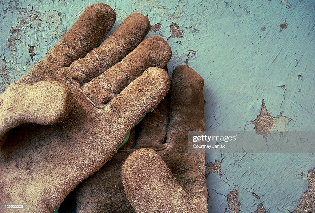 Gloves dirty : Stock Photo