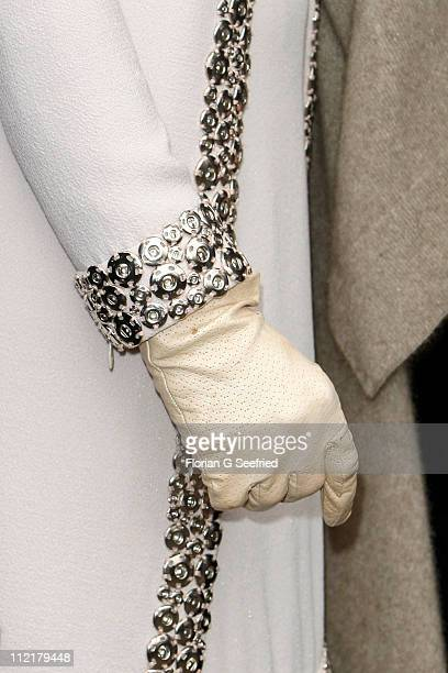 Gloves of Princess Maxima of the Netherlands are pictured during she tours the historic city center on April 14 2011 in Dresden Germany The Dutch...