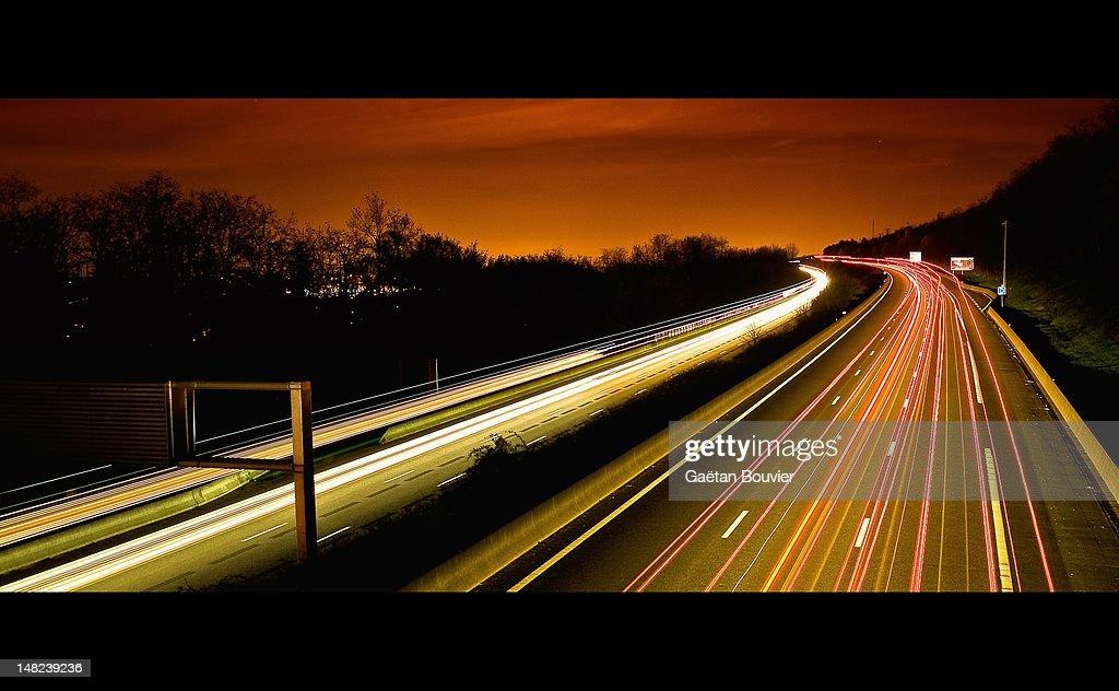 Glow at night : Stock Photo