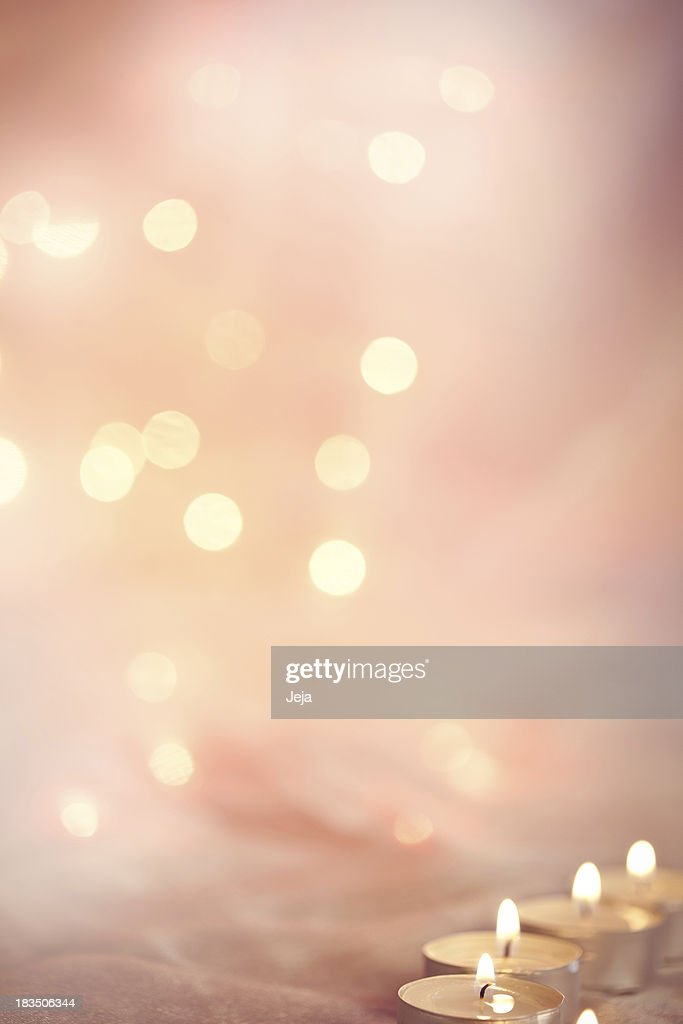 Glowing background with candle lights : Stock Photo