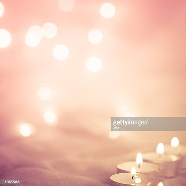 Glowing background with candle lights