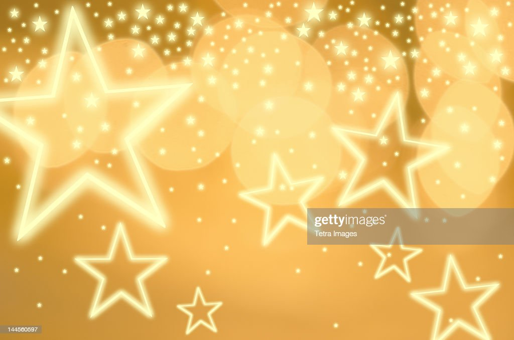 Glowing background with stars, studio shot : Stock Photo