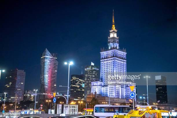 glowing blue - warsaw stock pictures, royalty-free photos & images