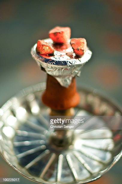 glowing embers - hookah stock photos and pictures
